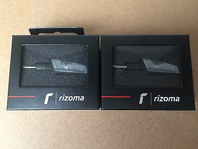 RIZOMA PAIR ACTION TURN SIGNALS IN BLACK (2 x FR028B) **WORLDWIDE SHIPPING**