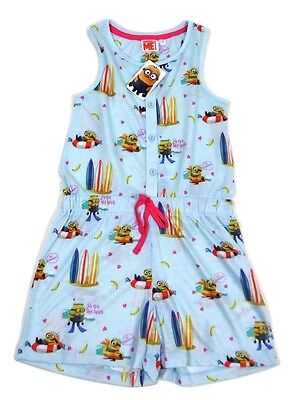 Despicable Me BHS Minion Made Minions Girls Playsuit Summer 7 - 16 Years