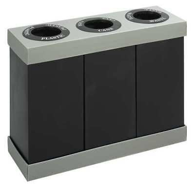 28 gal. Desk Recycling Container Rectangular, Black Plastic SAFCO 9798BL