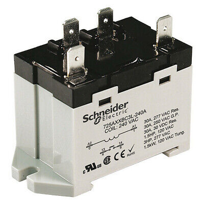 SCHNEIDER ELECTRIC 389FXBXC1-24A Enclosed Power Relay,8 Pin,24VAC,DPDT