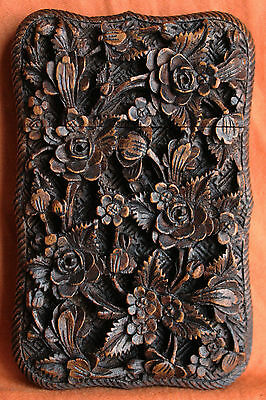 Antique Chinese Card Case Cantonese GIFT