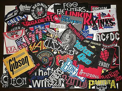Wholesale Music Rock Band Metal Punk Skull Biker Iron On Patch Embroidered Sew