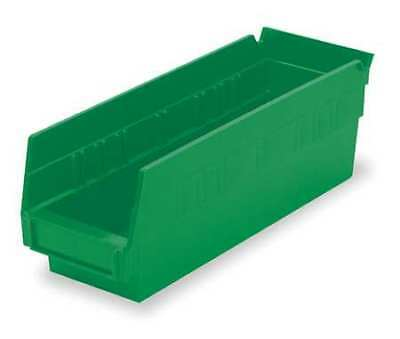 "Green Shelf Bin, 11-5/8""L x 4-1/8""W x 4""H AKRO-MILS 30120GREEN"