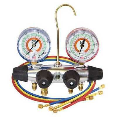 JB INDUSTRIES 25233 Manifold Gauge, 4-Valve