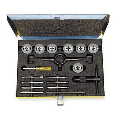 CLEVELAND C00614 Tap and Die Set, M6 to M18, 17 pc