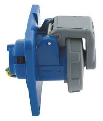 HUBBELL WIRING DEVICE-KELLEMS HBL4100R9W IEC Pin and Sleeve Receptacle,100A,250V