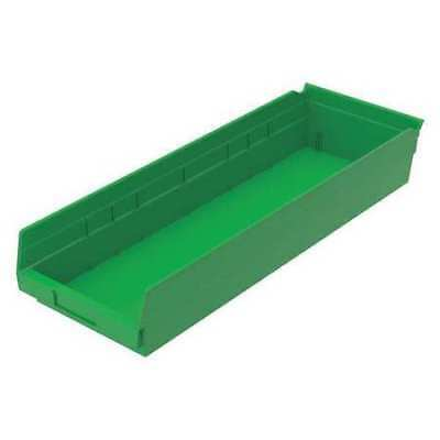 "Green Shelf Bin, 23-5/8""L x 8-3/8""W x 4""H AKRO-MILS 30-184 GREEN"