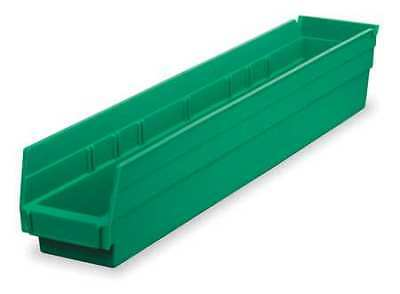 "Green Shelf Bin, 17-7/8""L x 4-1/8""W x 4""H AKRO-MILS 30128GREEN"