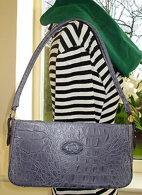 Genuine Vintage Mulberry Lilac Congo Reptile Leather Shoulder Hand Bag & Dustbag