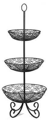 TABLECRAFT PRODUCTS COMPANY BKT3 Mediterranean Basket, 3 Tier