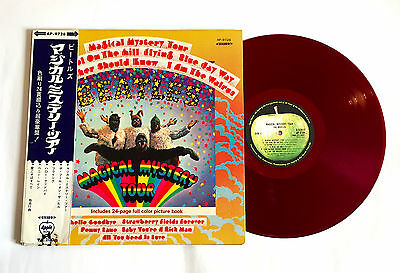 THE BEATLES Magical Mystery Tour JAPAN RED WAX APPLE VINYL LP AP-9728 w/OBI