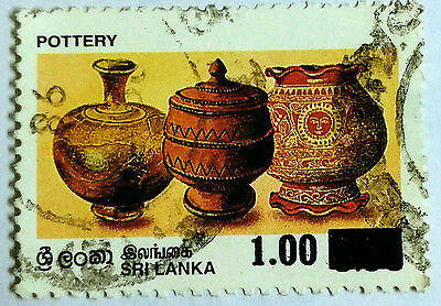 110.sri Lanka  Used Stamp Pottery, Surcharged