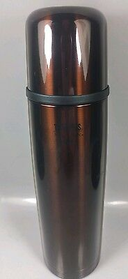 Starbucks Coffee 16 Oz Red Stainless Steel Travel Thermos Soup Container Cocoa