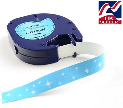 """1-50 x craft """"sparkle"""" tape plastic 12mm x 4m for DYMO LETRATAG label makers"""