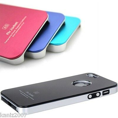 10 pieces Aluminum Case Shell for iPhone 5 5S Luxury Metal Tone chrome lining