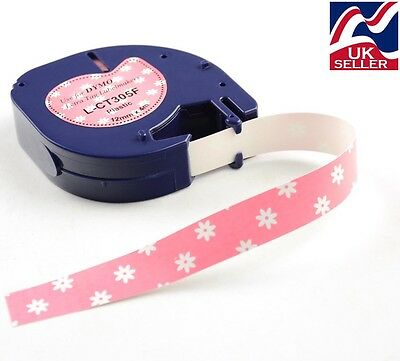 """1-50 x craft """"daisy"""" tape plastic 12mm x 4m for DYMO LETRATAG label makers"""
