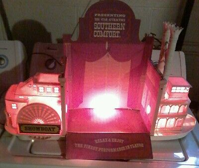 Rare Vintage Southern Comfort Whiskey Display Showboat Lighted Steam Boat