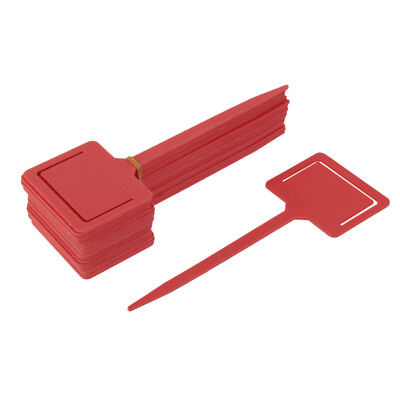 20pcs Plastic Tags Markers Garden Seed Packet Plant Flower Label Holder Red