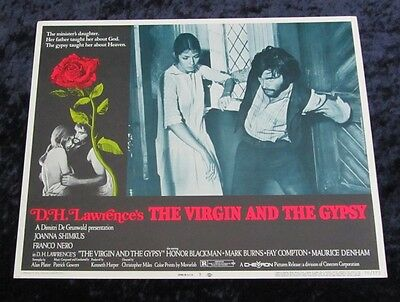 THE VIRGIN AND THE GYPSY lobby card #3 FRANCO NERO, D.H. LAWRENCE