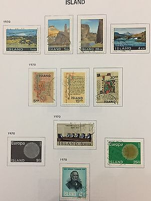 Island Iceland 1970 Lot Of 10 Used For Description Look At The Picture Rare