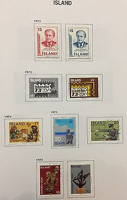 Island Iceland 1973/74 Lot Of 8 Used For Description Look At The Picture Rare