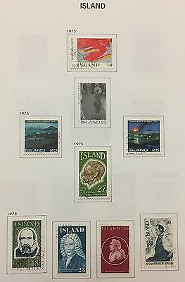 Island Iceland 1975 Lot Of 8 Used For Description Look At The Picture Rare