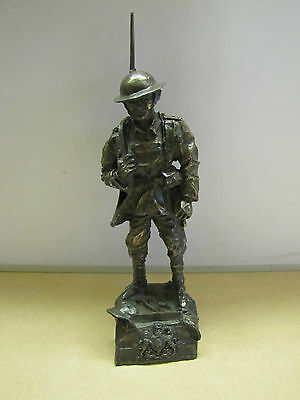 WW1 Tommy Cold Cast Bronze Military Statue Sculpture