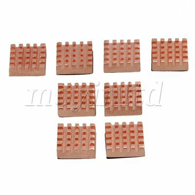8Pcs Copper Memory Heat Sink RAM laptop Computer heatsink 12mm x 13mm x 5mm