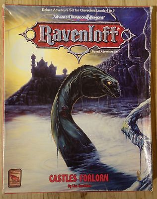 CASTLES FORLORN boxed adventure Ravenloft Advanced Dungeons & Dragons TSR 1088