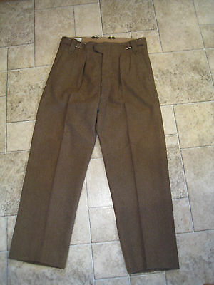 Vintage Battle Dress Military Trousers Wool Pants Suspender Ready Duck Hunting