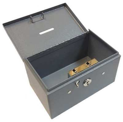 BUDDY PRODUCTS 0505-1 Stamp and Coin Box, Steel, Dble Latch Lock