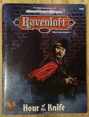 AD&D Advanced Dungeons & Dragons RAVENLOFT Hour of the Knife TSR 9456