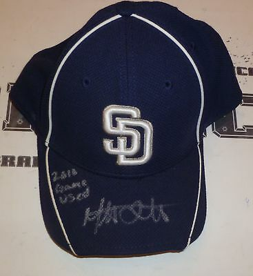 Mat Latos Signed Auto 2010 Game Used Padres Hat PSA/DNA