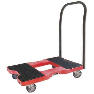 SNAP-LOC GR-1500PTR219 Platfrm Truck, 1500lb, 4 Swivel Castrs, Red