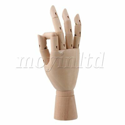 """8"""""""" Body Model Jointed Manikin Mannequin Solid Wooden Right Hand for Art Drawing"""