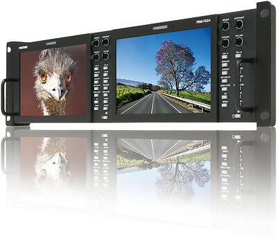 "TVLogic PRM-702A(800x480)Dual of 7"" LCD rackmount monitor(3RU), Waveform/Vector"