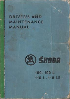 Skoda 100 100L 110L & 110Ls Original 1974 Owners Maintenance Handbook