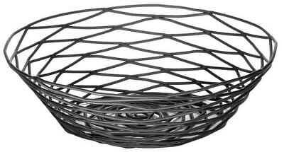 Round Food Serving Basket, Black ,Tablecraft Products Company, BK17508