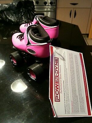 NWT Riedell Dart Pink Speed Roller Skates Size 4