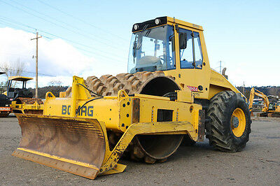"""2012 Bomag Bw213Pdh-40 84"""" Padfoot Compactor 630Hrs Tier 3 Cummins Blade Cab"""