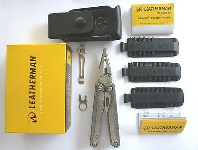 Leatherman Charge TTI Multi Tool Knife +42 end Bit Kit+Leather Sheath Free Post