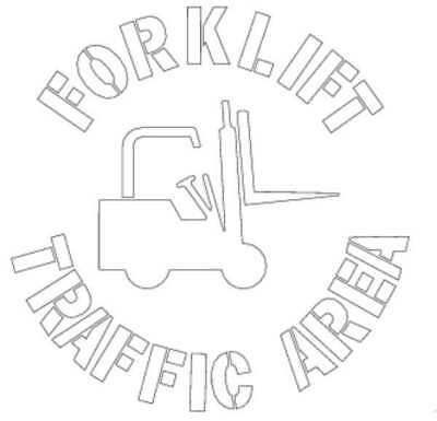 ELECTROMARK S476 Floor Stencil, Forklift Traffic Area, Poly