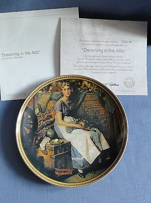 N. Rockwell's DREAMING IN THE ATTIC Ltd Ed plate Rediscovered Women Series