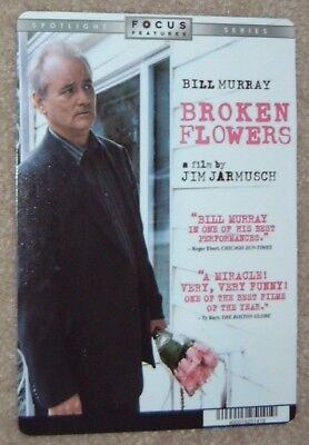 BROKEN FLOWERS promo art card BILL MURRAY (this is NOT a movie)