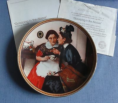 N. Rockwell's GOSSIPING IN THE ALCOVE Ltd Ed Plate Rediscovered Women Series