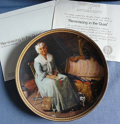 N. Rockwell's REMINISCING IN THE QUIET Plate Rediscovered Women Series Ltd Ed
