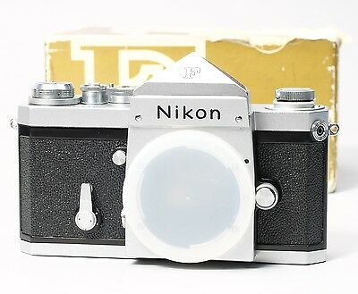 Nikon F 35Mm Slr Film Camera Body Pentaprism W/ Original Box -- Clean!