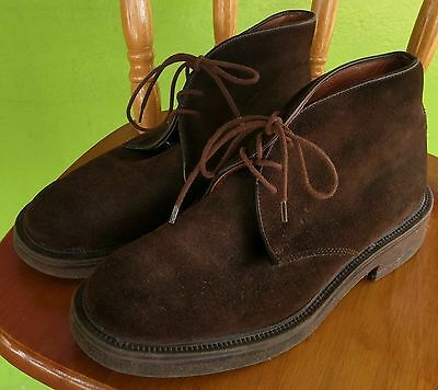 Vintage Men's Suede Ankle Brown Boots 1970's Fashion