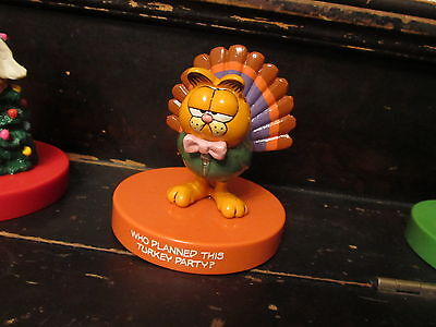 """1981 Garfield """"Who Planned this Turkey Party?"""" figurine Enesco Thanksgiving"""