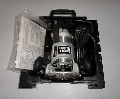 New Porter Cable Model 890 Heavy Duty Router With Case And 18 Piece Bit Set.